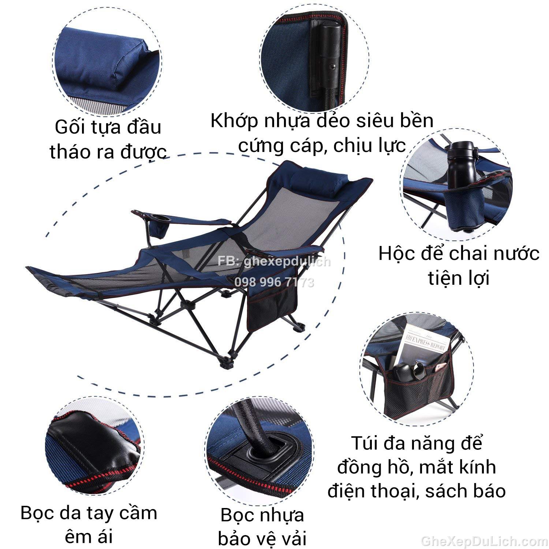 Ghế xếp nằm kiểu mới - Ghế Nam Việt